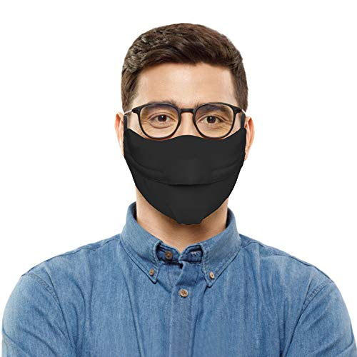 IRRIT Adult Face_mask Glasses Wearers Prevent Fogging ,with Adjusting Buckle for Coronàvịrụs Protectịon,Washable Breathable Reusable Cotton Polyester Covers,for Women Men Outdoor Activities (Black)