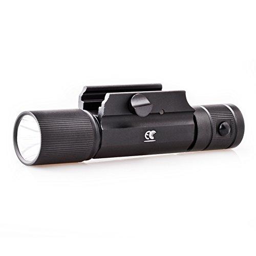 MCCC 500LM LED Tactical Gun Flashlight Rifle Light, 4-Mode Rail-Mounted Tactical Light, Strobe Light,with Pressure Switch