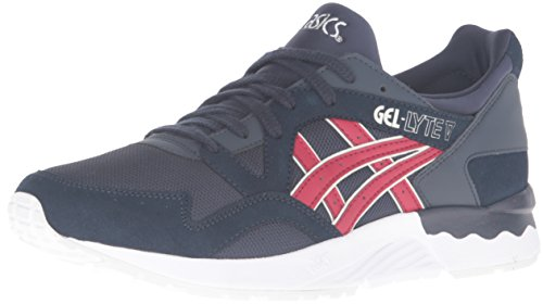 ASICS Men's Gel-Lyte V Fashion Sneaker, India Ink/Burgundy, 9 M US