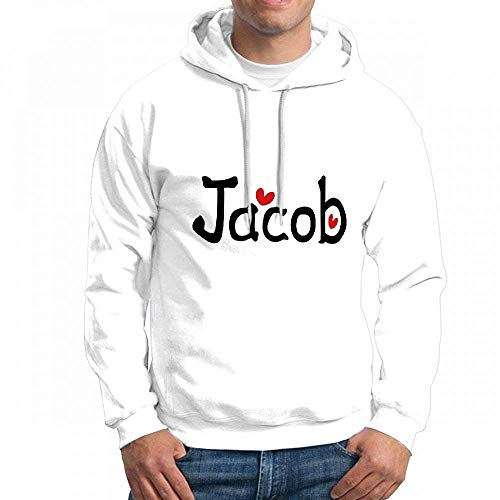 Men's Sweatshir Name Jacob TXT Hearts Custom Mens Hoodies