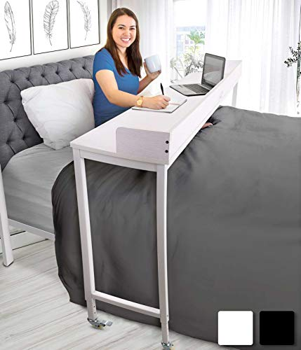 """Joy Overbed Table with Wheels for Full/Queen Beds 