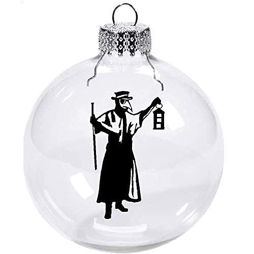 Merch Massacre Plague Doctor Christmas Ornament Glass Disc Holiday Horror