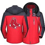 FXZFYYY Chaqueta De Forro Polar De Montañismo Impermeable para Hombre Sudadera Cálida para Patinaje De Esquí Al Aire Libre Boston Red Sox