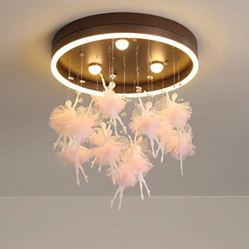 Plafondlamp LED Ballet Girl hanger plafondlamp ontwerp van PVC en stof creatieve lamp decoratieve lamp voor kinderen lamp dimbaar zonder dimmer mogelijk Ø 50 cm 27 W