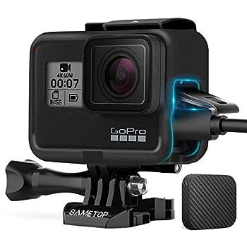 Sametop Frame Mount Housing Case Compatible with GoPro Hero 7 Black 7 Silver 7 White Hero 6 Black Hero 5 Black Hero  2018  Cameras