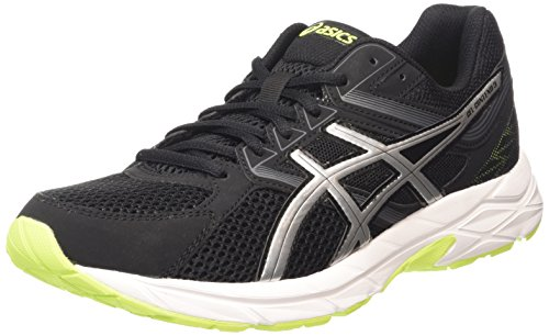 ASICS Herren Gel-Contend 3 Laufschuhe, Grau (Onyx/Silver/Flash Yellow 9993), 44 EU