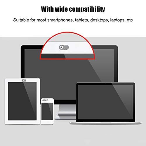 Kafuty Webcam Cover 3pcs Ultra Thin Metal Objektivdeckel Schutzhülle Schutz Datenschutz Sicherheit Geeignet für Smartphones Tablets Desktops Laptops(Silber-)