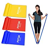 Potok Fitnessbänder 3er-Set für Fitness, Reha, Gymnastik und Physiotherapie | Leicht | Medium |...