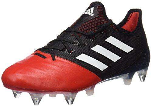 adidas Ace 17.1 Leather SG, Scarpe da Calcio Uomo, Nero (Core Black/Footwear White/Red), 44 2/3 EU