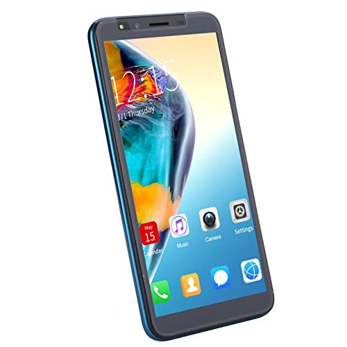 M30 PLUS Telefono cellulare sbloccato da 5,8 pollici per Andriod 8.1, Smartphone con riconoscimento facciale con sblocco e impronte digitali, Batteria ad alta capacità 4000mAh, Blu