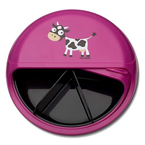 Carl Oscar BentoDISC - Fiambrera giratoria con 5 compartimentos fijos, para la escuela, excursión, coche (rosa (sin nombre)
