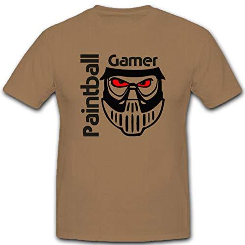 Masker bescherming Gotcha Paintbal schild kleurbal spel sport pictogram - T-shirt #2105