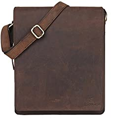 Leaderachi Men's Muskat Hunter Leather Messenger Bag - Lombardy,LEADERACHI,2012-01