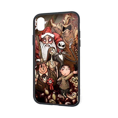 Kompatibel mit iPhone XR, Jack and Sally Wallpaper Halloween Party Art Prints Pretty Soft TPU Präzise Cutouts Slim Cover Case Stoßfest 360 Schutzhülle für iPhone XR 6.1 Zoll (2018)