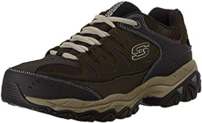 Skechers mens Afterburn M. Fit fashion sneakers, Brown/Taupe, 8 US