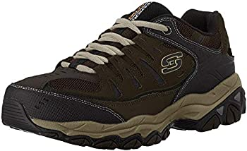 Skechers mens Afterburn M Fit fashion sneakers Brown/Taupe 11.5 X-Wide US