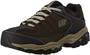 Skechers mens Afterburn M. Fit fashion sneakers, Brown/Taupe, 8.5 US