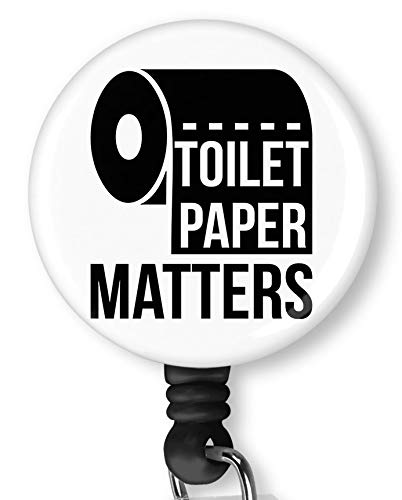 Toilet Paper Matters Retractable Badge Reel with Alligator Clip,Name Nurse ID Card Badge Holder Reel, Decorative Custom Badge Holder