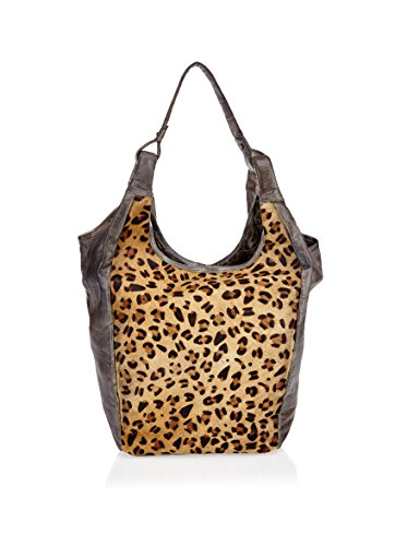ANOKHI Schultertasche Gaby oliv/leopard one size