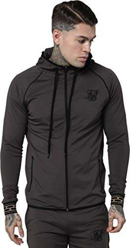Sik Silk Hombre Sudadera con Capucha Scope Cartel Zip, Negro