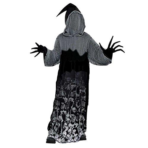 amscan Boys Dark Shadow Creeper Halloween Phantom der Dunkelheit Skeleton Kostüm 14-16 Jahre