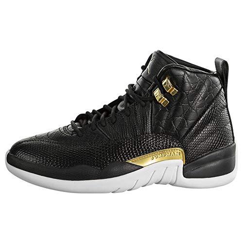 Nike WMNS Air Jordan 12 Retro - Black/metallic Gold-White, Größe:8.5