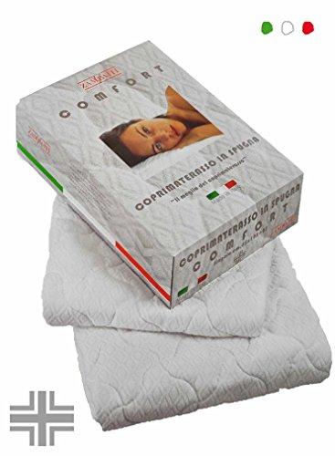 CASA TESSILE Comfort Mousse Matelas pour lit Coins carré et de 1 1/2 cm 125 x 195
