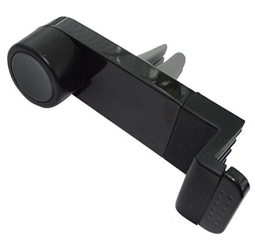 Aerzetix houder voor ventilatierooster dashboard zwart voor mobiele telefoon GSM PDA smartphone C42790