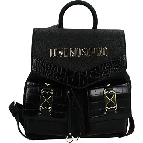 Love Moschino JC4290PP0BKP1, Mochila para Mujer, Negro, Normale