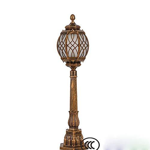 MICHEN Bronze, Mit Glaslinse, Wiederaufladbarer Batterie Und Besonders Heller, Automatischer LED Für Terrasse, Hof, Rasen Und Garten,2Pc