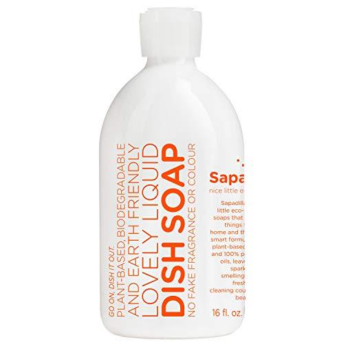 Sapadilla Grapefruit + Bergamot Biodegradeable Liquid Dish Soap, 16 Ounce