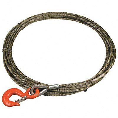 Lift-All - 12WX75 - Winch Cable, 1/2 In. x 75 ft.