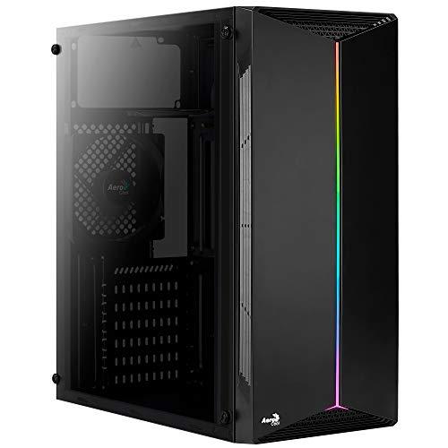 AeroCool SPLIT, PC-Gehäuse, ATX, Acrylglas, RGB 13-Modi, 12-cm-Lüfter Schwarz