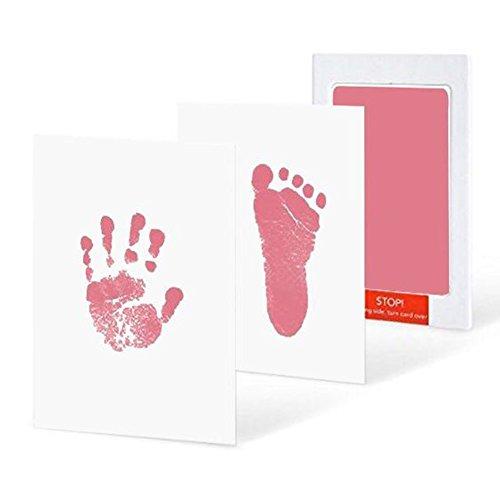 iKulilky 3 Stück Baby Abdruckset Inkless Fußabdruck Handabdruck Kit Stempelkissen ohne Tinte-Touch Safe Magic Footprint Kit Abdruck-Set für Baby Shower Registry Geschenk Das Babyparty Ges