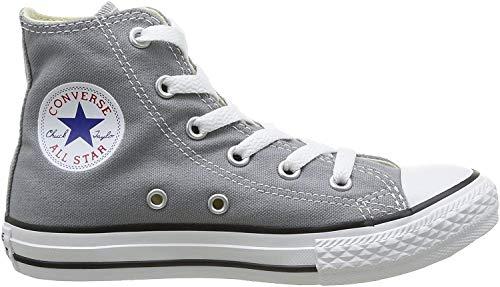 Converse Unisex – Bimbi 0-24 Chuck Taylor all Star Hi Scarpe Sportive Grigio Size: 30