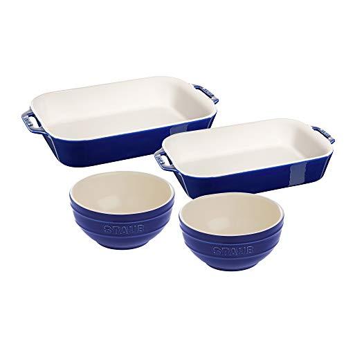 Staub Ceramic bakeware set, 4-pc, Dark Blue