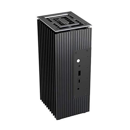 Akasa Turing FX | Intel 10th Gen NUC (Frost Canyon) | PC Fanless Cooling Hülle | Aluminium | IR | Microphone | Internal M.2 SSD Heatsink | Antenna Hole | UCFF | 2.5