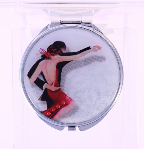 Maranda Elegance Tango Miroir compact rond avec cristal de Swarovski M9