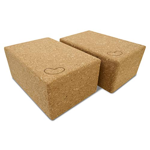Bean Products Yoga Blocks - 2 Pack, Cork, Standard - 3x6x9