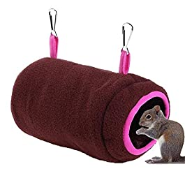 Yagoal Rat Hammocks Hamster House Rat Hammocks For Cage Guinea Pig Toys Small Pet Bed Hamster Cage Accessories Warm Parrot Cage Guinea Pig Hammock