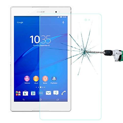HUANGPUJIAN Teléfono Carcasas 0.4mm 9H+Dureza superficial 2.5D Película de vidrio templado a prueba de explosiones para Sony Xperia Z3 Tablet Compact