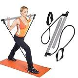 Charminer Kit de Barra de Pilates portátil con Banda de Resistencia para Yoga, Pilates, Yoga, Pilates
