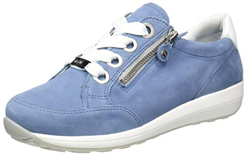 ara Damen OSAKA Sneaker, Sky Weiß, 42 EU