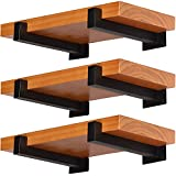 Shelf Brackets-6 Pack Thickened Heavy-Duty Floating Shelf Brackets 12 inches (Actual 11.25'),Wall-Mounted Industrial Metal Decorative Shelving Brackets with Lip