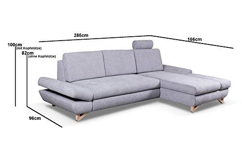 Ecksofa Couch – mb-moebel   Schlaffunktion Eckcouch Bild 3*