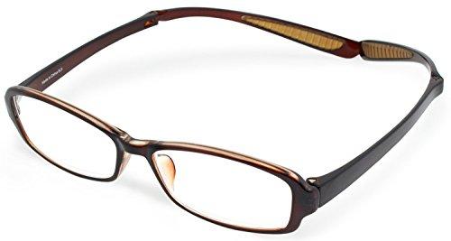 デューク 老眼鏡 首掛け +2.0 度数 ネオクラシック ネックハグ ソフトケース付き ブラウン GLR-21-3+2.00