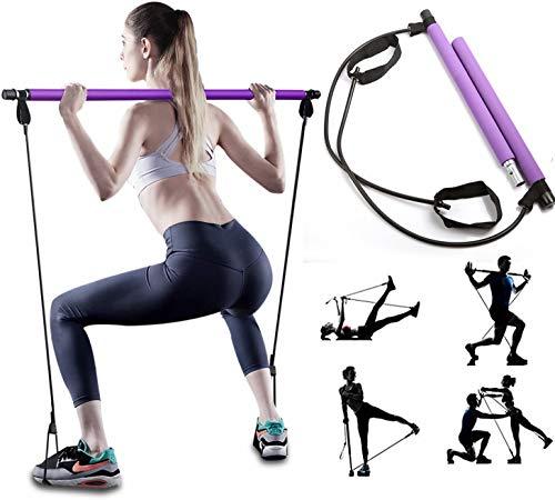 SmartRing De Ejercicios Multifuncional de Estiramiento de Yoga de Barras portátil Gimnasia Pilates Barra de Resistencia Banda Desmontable, Color al Azar