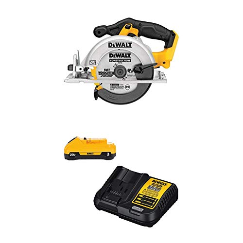DEWALT DCS391B 20-Volt MAX Li-Ion Circular Saw (Tool Only) with DCB230C 20V Battery Pack