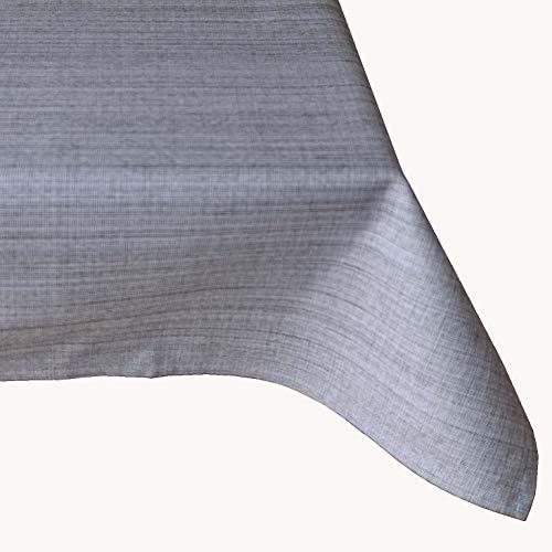 Kamaca Nappe d'extérieur pour table de jardin - La couverture textile parfaite pour l'intérieur et l'extérieur - Résistante aux taches et aux intempéries - Infroissable (gris - chiné, nappe de 130 x 160 cm)