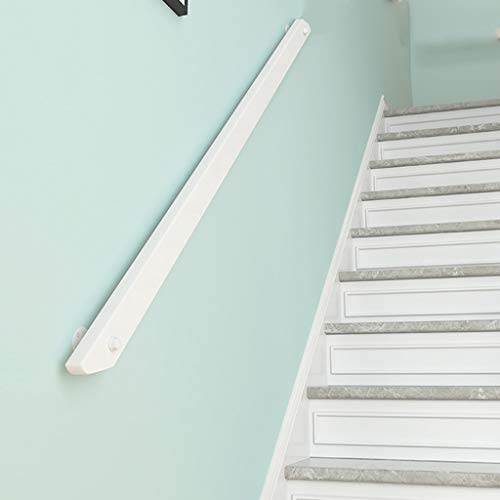 Actualizados Pasamanos De Escaleras De Madera Blanca, Tipo Loft Interior Varillas Ancianos Antideslizante Apoyo Pasillo Pasamanos, 50~300 Cm (Size : 100cm)